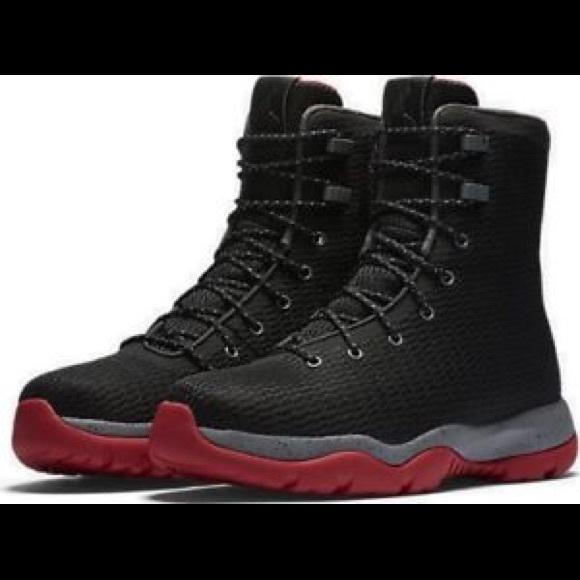 air jordan future black red